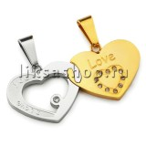 Кулон для влюбленных KL026.1 Сердца