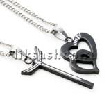 Кулон для влюбленных KL029.2 Сердце и стрела