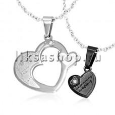 Кулон для влюбленных KL033.2 Сердца