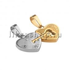 Кулон для влюбленных KL057.1.B Сердце с ключиком