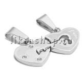 Кулон для влюбленных KL057.3 Сердце с ключиком MINI