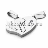 Кулон для влюбленных KL090.3 Ключик в сердечке