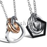 Кулон для влюбленных KL102 Кольца и сердечко