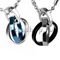 Кулон для влюбленных KL103 Тройные кольца