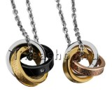 Кулон для влюбленных KL106 Тройные кольца